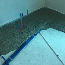 rapid drying cementitious fibre reinforced flowing liquid screed